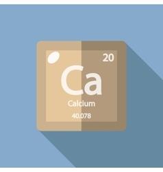 Chemical element Calcium Flat vector image