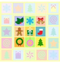 christmas card 2 1 vector image
