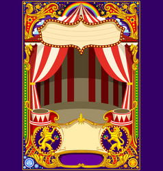 Circus card template vector