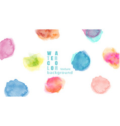 colorful abstract stain watercolor background vector image