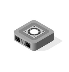 computer power server vector image
