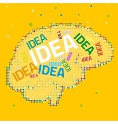 Creative Brain vector