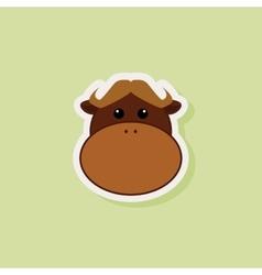 Cute Bull Face vector image