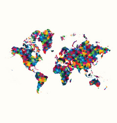 decorative world map abstract geometric pattern vector image