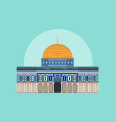 Dome of rock aqsa mosque vector