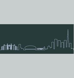 dubai single line skyline vector image