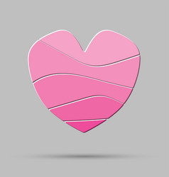 element pink heart pieces puzzle symbol love vector image