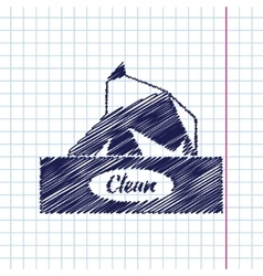 flat box with napkin vector image