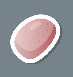 fresh potato sticker tasty vegetable icon healthy vector image