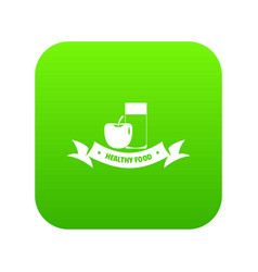 healthy food icon green vector image