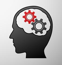 Human head Stock vector image