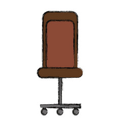 isolated desk chair vector image