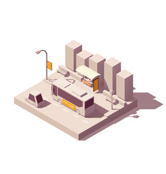 Isometric outdoor advertising types vector