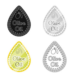Label of olive oilolives single icon in cartoon vector