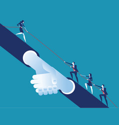 leader helping business team concept business vector image