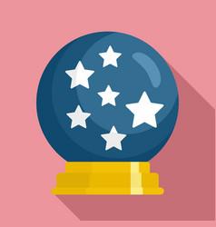 Magic star ball glass icon flat style vector