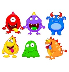 Monster cartoon collection vector image