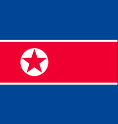 national flag of korea republic vector image