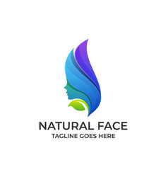 natural face design colorful concept template vector image