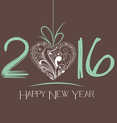 New Year 2016 greeting card vector