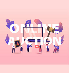 online auction concept people buying assets vector image