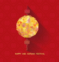 Oriental Paper geometrical lantern Mid Autumn vector