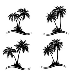 Palm trees silhouettes vector