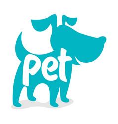 pet dog logo vector image
