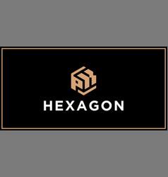 Pk hexagon logo design inspiration vector