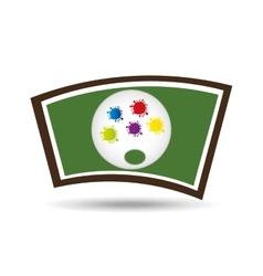 school board icon palette colors design vector image