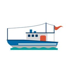 sea ship boat vector image