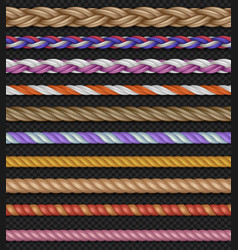 seamless straight ropes and strings vector image