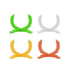 Set of Herald Wreath vector image