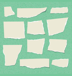 set of isolated realistic empty paper vector image
