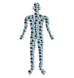 shipment van human figure vector image