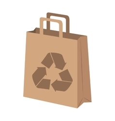 Shopping bag ecology icon vector