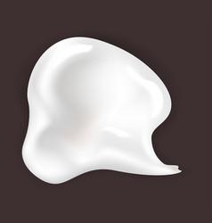 Skincare cream smear cosmetics and makeup gel vector