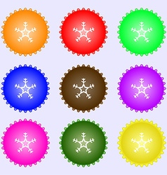 snow icon sign Big set of colorful diverse vector image