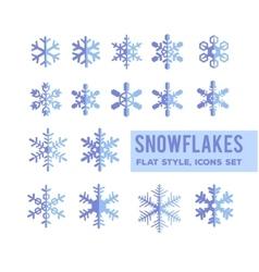 Snowflakes flat design vector image