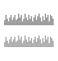sound waveforms icon pixel vector image