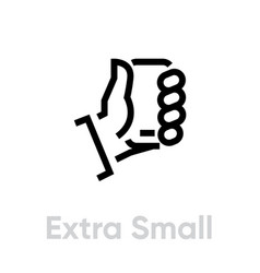 tech specs extra small phone icon editable line vector image