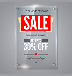 Thirty percent holiday discounts iformation on vector