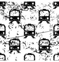 Train pattern grunge monochrome vector