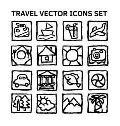 travel journey tour trip voyage sea rest black and vector image