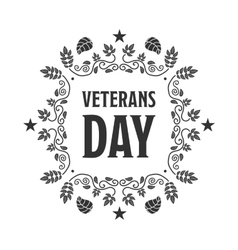 Veteran day sign vector