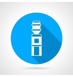 Water dispenser flat blue round icon vector