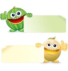 Watermelon and Melon Cartoon vector