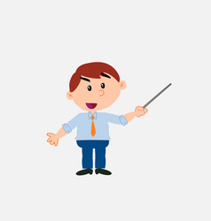 White businessman with a pointer vector