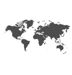world map on white background vector image