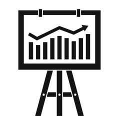 Flipchart with marketing data icon simple style vector image vector image